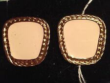 White And Gold Summer Fun Pierced Earrings