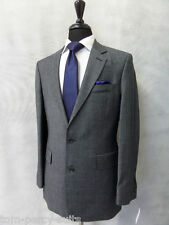 Men's Tailored Fit Grey Checked Hammond & Co 2 Piece Suit 40L W34 L33 CC2023
