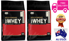 2X Optimum Nutrition 100% Whey Gold Standard//Double Rich Chocolate/10lb (4.5kg)