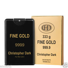 Christopher Dark Oro Fino Colonia Natural Spray para hombre 20ml