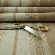 Golden Beige Colour Striped Pattern Tapestry Quality Chenille Upholstery Fabrics