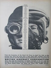 5/1968 PUB BRITISH AIRCRAFT CORPORATION PILOTE PILOT RAF HELMET CASQUE AD