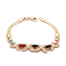 GORGEOUS 18K ROSE GOLD PLATED & GENUINE SWAROVSKI CRYSTAL BUTTERFLY  BRACELET