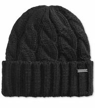 Michael Kors Mens Cable Knit Cuff Hat /Beanie BLACK  NWT.