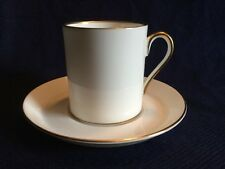 Royal Tuscan Coffee Cup & Saucer White With Gold Rim China Vintage