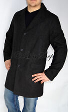 New Mens Authentic Tommy Hilfiger Wool Blend Coat Topcoat Charcoal Gray Large