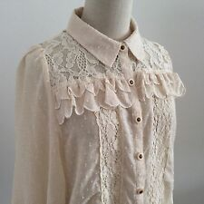 LIZ LISA Blouse Kawaii Japanese fashion Lolita Gyaru Hime light beige