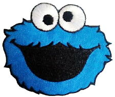 """Cookie Monster Iron On Sew On Cartoon Kids Fun Embroider Badge Patch 3.4"""""""