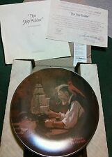 "Limited Edition Norman Rockwell #21350J Plate ""The Ship Builder"" 1980"
