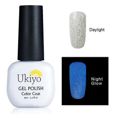 Ukiyo Noche Brillan En Oscuridad Luminoso esmalte en gel capa base superior 8ml UV/LED Lámpara 6724