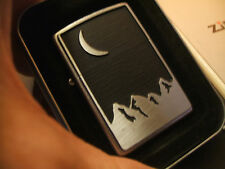 Nice New Old Stock 3D Heavy Plate Marlboro Moon & Mountains Zippo Lighter