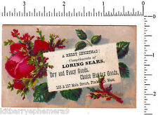 4421 Loring Sears dry goods store Christmas trade card 157 Main St. Fitchburg MA