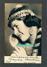 OPERA RAYEN QUITRAL MAPUCHE CHILEAN SOPRANO PHOTO SIGNEC 1938 VERY RARE