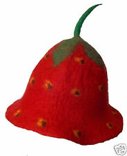 Ethical Pixie Felt Strawberry Wool Festival Funny Fancy Dress Adult Red Hat N97
