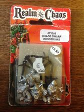 Warhammer. Realm Of Chaos. Chaos Dwarf Crossbows. Still Sealed. Metal. Oop.