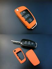 Audi Remote Flip Key Cover Case Skin Shell Cap Fob Protection Hull S Line Orange