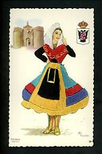 Embroidered clothing postcard Artist Elsi Gumier Spain Toledo woman #20