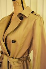 TOPSHOP SOFT LONG TRENCH COAT IN  BEIGE. Size 6