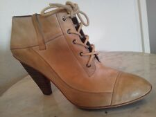 """DKNY """"Cathee"""" Natural Color, Leather  Lace Up Ankle Boots Us Women Sz 10 M"""