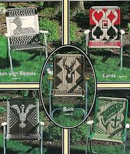 Macrame LAWN CHAIR PATTERNS: golfer fish buck sailboat eagle duck SEAT YOURSELF