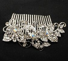 Wedding Bridal Hair Accessories Flower Hair Comb,Rhinestone Crystals 8091