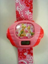 NEW Princess Tinkerbell Kids Watches Digital Wrist Watches Projector + Pendant
