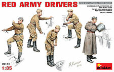 SOVIET RED ARMY DRIVERS - SET OF 5 FIGURES  #35144 1/35 MINIART