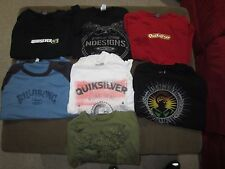 Lot of 7 Men's XL T Shirts, Quiksilver, Billabong, Rusty Surf