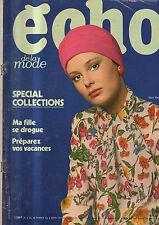 echo de la mode N°9 michel tournier rio triomphe du carnaval 1971