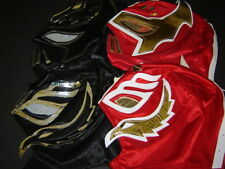 LOT of 4 COMBINED SIN CARA/REY MYSTERIO RED-BLACK WRESTLING MASKS KIDS niños fre