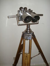 Polished Observation  Binoculars on Zeiss Tripod, WorldWar II,, Excellent Optics