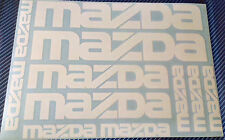 11 x MAZDA Vinyl Stickers for Car and Alloys, MAZDA 3, MAZDA 6, RX-8, MX-5 Decal
