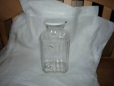 Clear Glass Refrigerator Water Bottle with/plastic lid 64 oz. Nice Jar