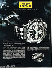 PUBLICITE ADVERTISING 065  2011  BREITLING  montre CHRONOMAT 01