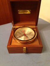 Chelsea Brass Clock In Wood Presentation Case