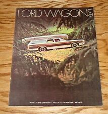 1969 Ford Wagons Sales Brochure 69 Fairlane Falcon Bronco Torino
