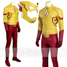 The Flash Season 3 Kid Flash Cosplay Costume Full Set All Size Halloween Costume