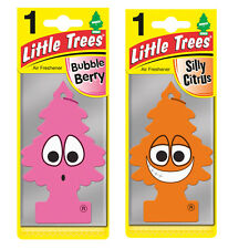 2 x Magic Tree Little Trees Car Air Freshener Scent BUBBLEBERRY + SILLY CITRUS