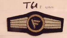 Bundeswehr TTA Führungsdienstpersonal bronze - schwarz Handgestickt (t61-)