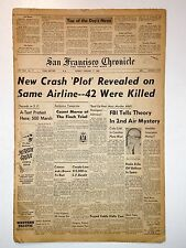 A-TEST Protests - 1/17/1960 - SF Chronicle - MARILYN MONROE, Airplane Crash Plot