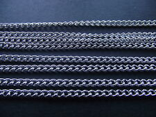 UK 100 Metres Silver Jewellery Link Curb Pendant Locket Necklace Chain 3mm x 2mm