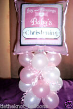 "18"" FOIL BALLOON TABLE DECORATION DISPLAY PINK JOY & BLESSINGS CHRISTENING"