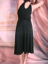 $1095 New with Tags MICHAEL KORS Sexy Halter Stretchy Black Twist Front Dress 4