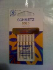 LOT OF 5 SCHMETZ GOLD STICK-NADEL EMBROIDERY NEEDLES 130/705 H-ET 75/11 1824 NEW