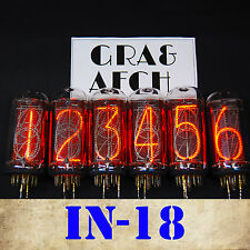 IN-18 NIXIE TUBES FOR NIXIE CLOCK. MATCHED SET. NEW. TESTED. SAME DATE [6PCS]