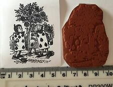 Card Men Alice In Wonderland Unmounted Stamp On Cling Foam. NEW.