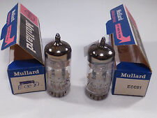 one pair ECC81 12AT7 Mullard BVA made in Great Britain matched NOS & NIB