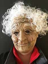 Old Woman Granny Mask White Hair Lady Nun Halloween Fancy Dress Masks