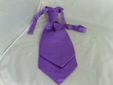 Clearance Sale   15 BOYS Purple Polyester Ruche Wedding Tie-Cravat-Pageboy