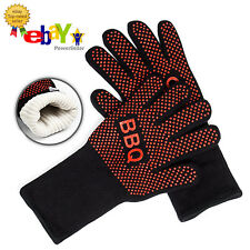 PREMIUM Set of 2 Silicone Heat Resistant BBQ Grill Gloves Kitchen Oven Mitts Pot